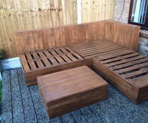 sofas, garden sofa, and pallets made sofa image