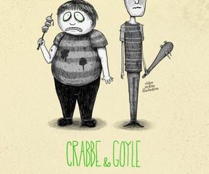 goyle, crabbe, and harry potter image