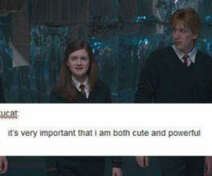 ginny weasley, harry potter, and hogwarts image