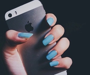 blue, hipsters, and iphone image