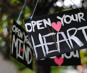 heart, open, and quote image