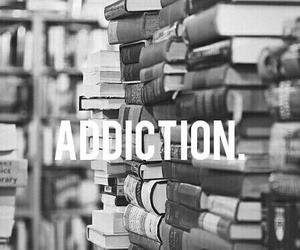 book, black and white, and addiction image