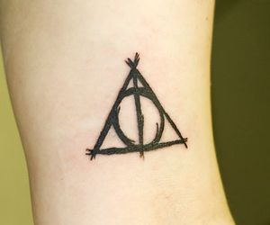 deathly hallows, harry potter, and tatto image