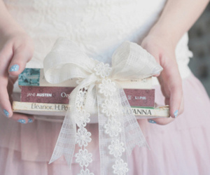 book, ribbon, and vintage image