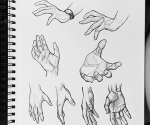 arm, drawing, and hands image