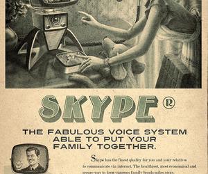 skype, vintage, and retro image