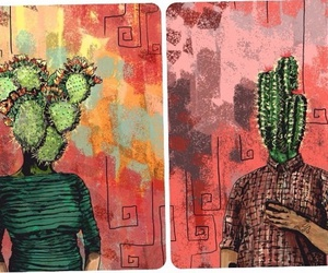 art, hippie, and cactus image