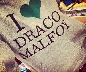 draco malfoy, harry potter, and malfoy image