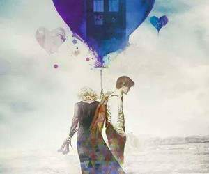 doctor who, river song, and tardis image