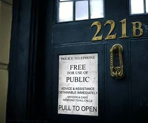doctor who, sherlock, and tardis image