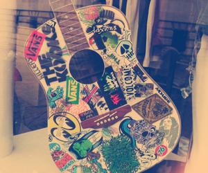 guitar, music, and vans image