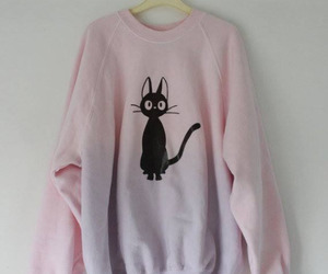 cat, pink, and sweater image
