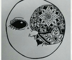 black, lune, and drawing image