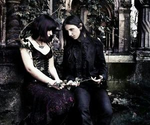 couple, gothic, and love image
