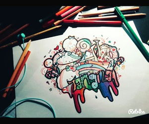 anime, colours, and draw image