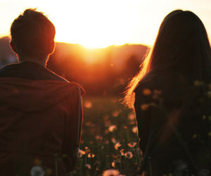 couple, amanecer, and together image