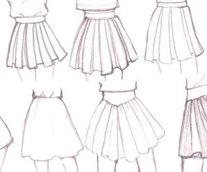 draw, skirt, and anime image