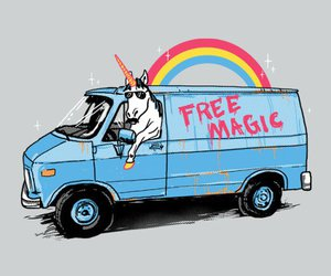 unicorn, rainbow, and free magic image