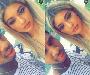 boy, girl, and lips image
