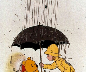happy, pooh, and winnie the pooh image