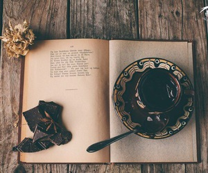 шоколад, кофе, and книга image