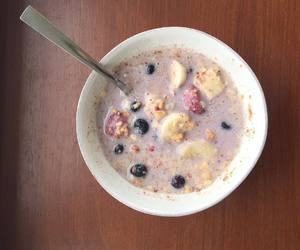 almond milk, nuts, and mixed berries image