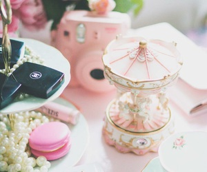 carousel, chanel, and girly image