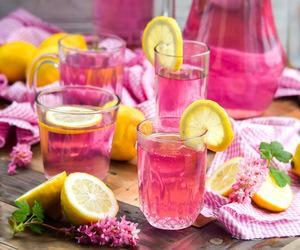 drink, food, and lemon image