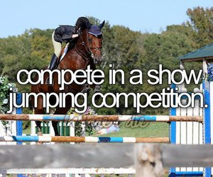 horse, show jumping, and compete image