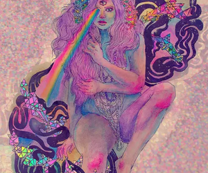 rainbow, colors, and art image