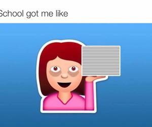 fuck, high school, and emojis image