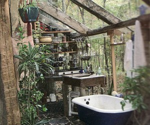 bath, outdoor, and nature image