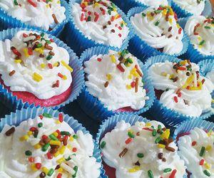 baking, birthday, and blue image