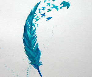 blue, art, and birds image
