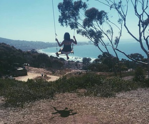 beach, fly, and swing image