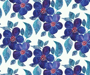blue, wallpaper, and flowers image