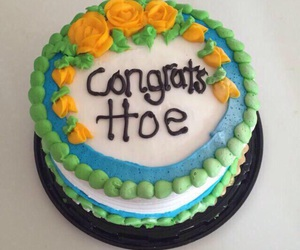 cake, funny, and hoe image