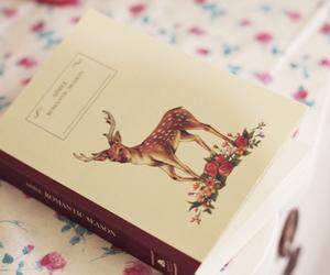 book, deer, and pastel image