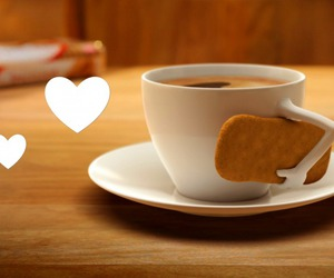 art, biscuit, and coffee image