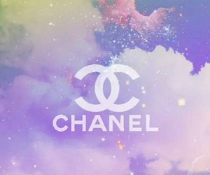 chanel, colours, and galaxy image