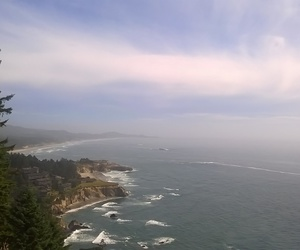 ocean, oregon, and view image