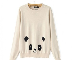 panda, pullover, and sweater image