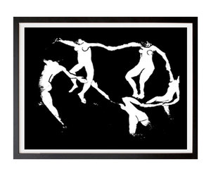 black and white art, wall print, and downloadable print image