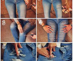 diy, jeans, and Hot image