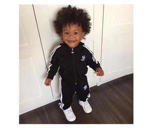 adidas, Afro, and baby boy image