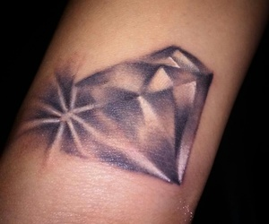 diamond, tattoo, and wristtattoo image
