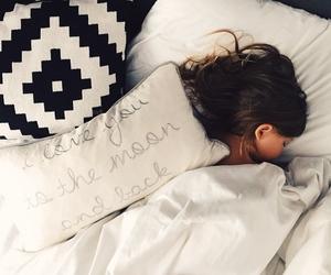 sleep, bed, and girl image