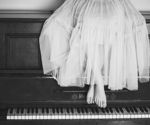piano, girl, and dress image