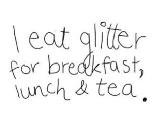 glitter, text, and lunch image