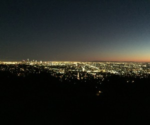 hiking, los angeles, and sunsets image